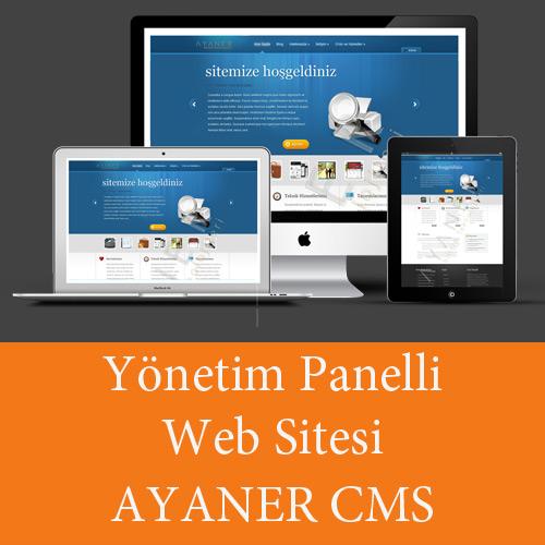 Ayaner Bilişim Teknolojileri Yönetim Panelli Web Sitesi Ayaner CMS